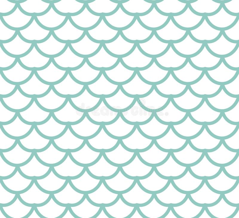 Fish scales seamless pattern. Fish skin endless background, mermaid tail repeating texture. Vector illustration. royalty free illustration