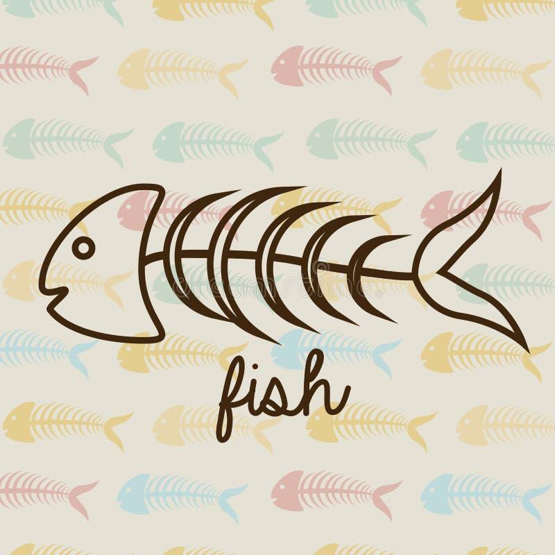 Fish sea food vector illustration