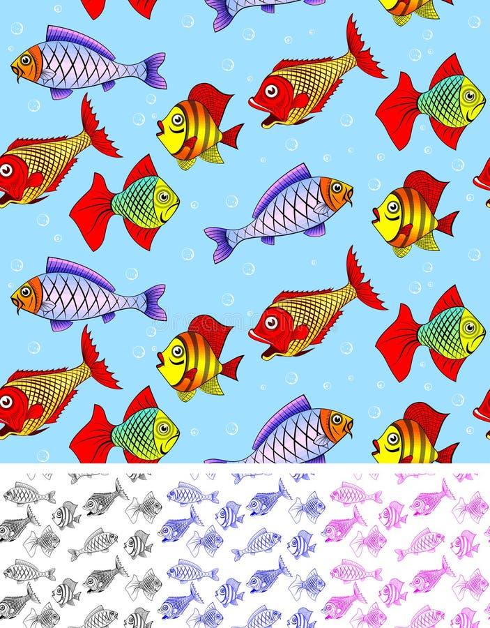 Fish seamless royalty free illustration