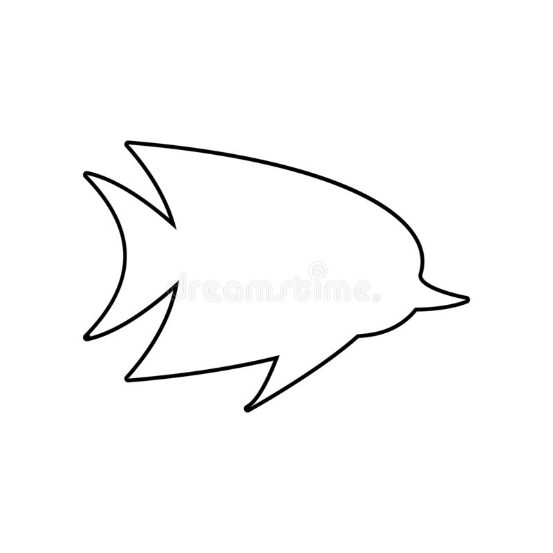 fish silhouette icon. Element of zoo for mobile concept and web apps icon. Outline, thin line icon for website design and vector illustration