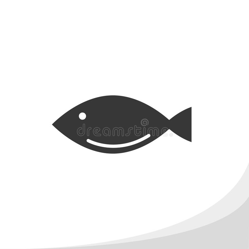 Fish silhouette icon simple flat style vector illustration royalty free illustration