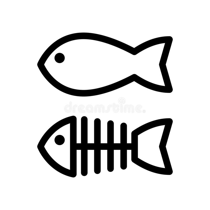 fish and skeleton simple vector icon black and white illustration rh dreamstime com skeleton fish logo restaurant fish skeleton logo meaning