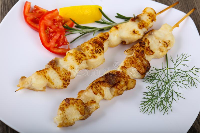 Fish skewer royalty free stock photography