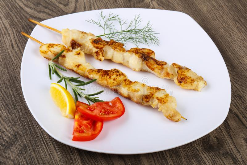 Fish skewer stock images