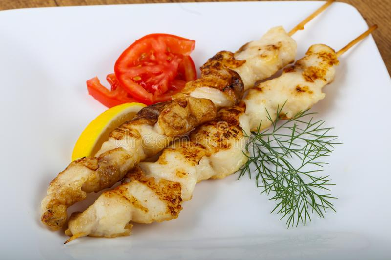 Fish skewer royalty free stock images