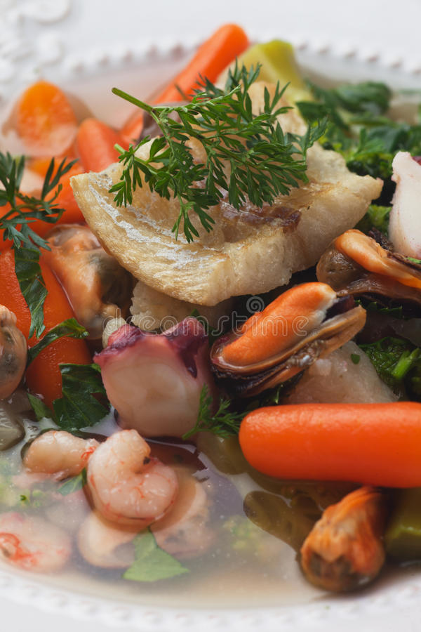 Download Fish soup stock image. Image of cauliflower, brussel - 38794113