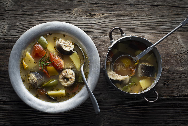 Fish stew royalty free stock image