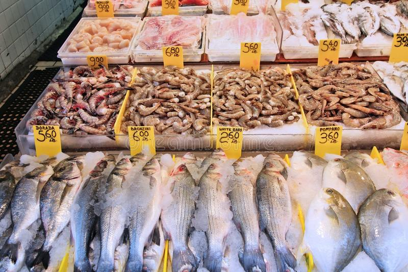 Fish store in new york stock photo image of gastronomy for Fishing store nyc