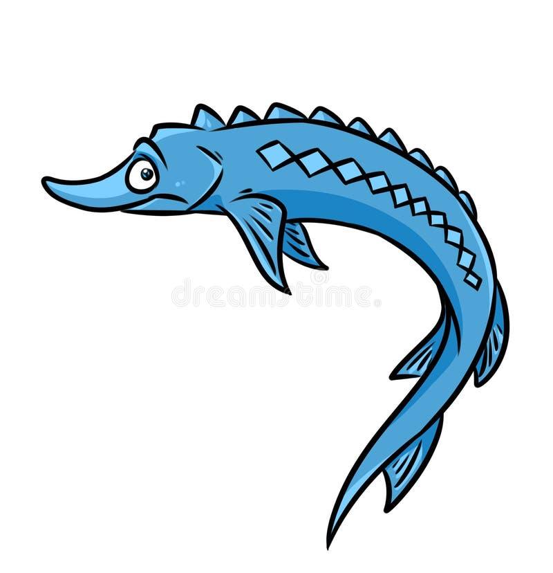 fish sturgeon cartoon illustration stock illustration illustration rh dreamstime com Sturgeon Point Productions Logo Suwannee River Sturgeon