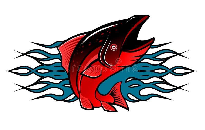 Fish tattoo stock photo