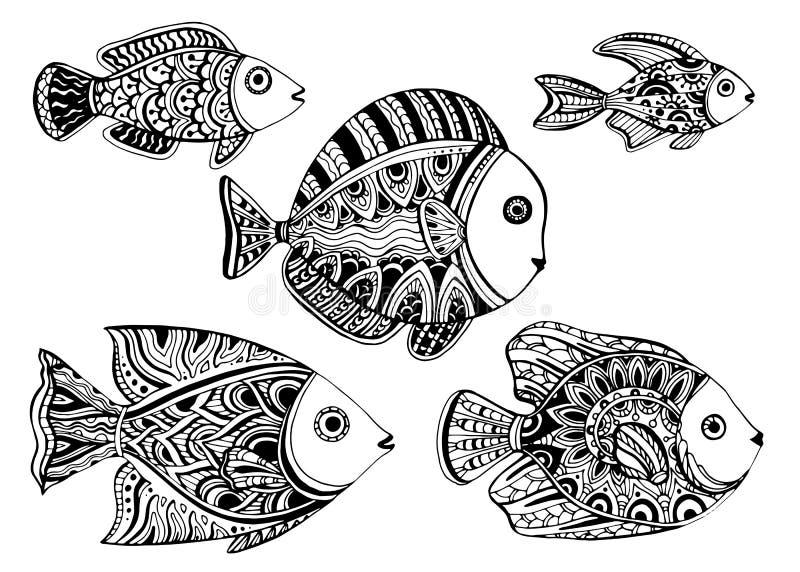 Fish_tattoo stock de ilustración