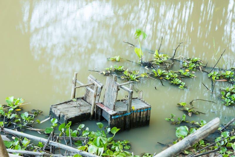 Fish trap royalty free stock photo