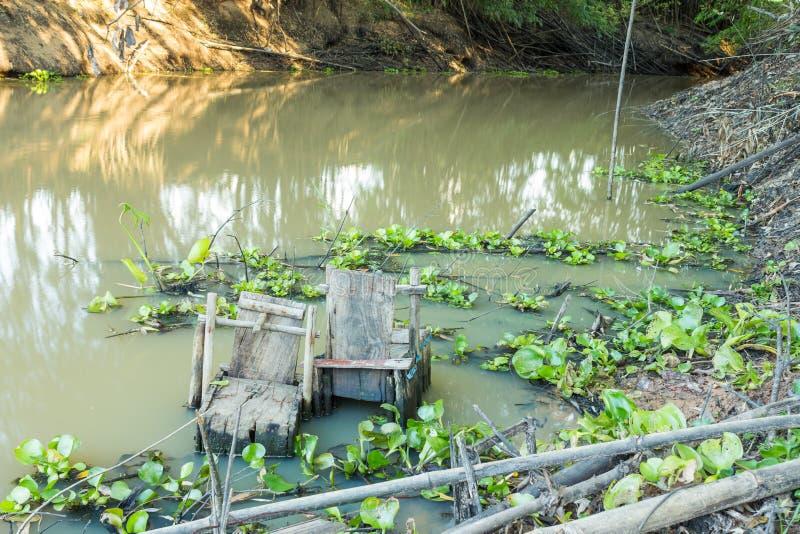Fish trap stock photography