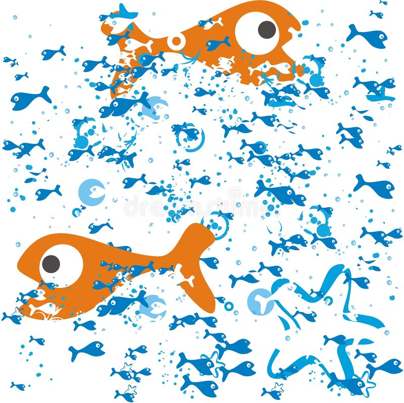 Fish in vector royalty free illustration