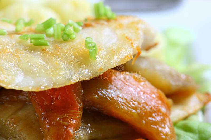 Download Fish and vegetables stock photo. Image of dinner, roast - 2427038