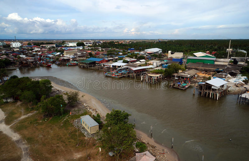 Fish village at Sekinchan Kuala Selangor. Sekinchan located at Kuala Selangor, is a small town known for its vast area of paddy field and fresh seafood. Located stock image
