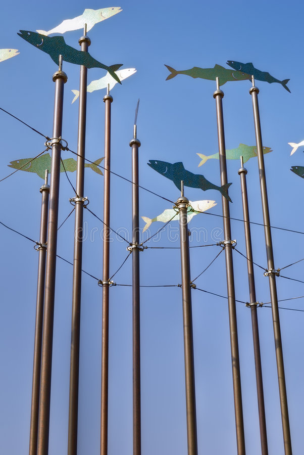 Download Fish wind sculptures stock photo. Image of blue, structures - 9168524