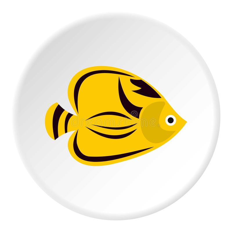 Fish yellow tang icon, flat style. Fish yellow tang icon. Flat illustration of fish yellow tang icon for web stock illustration