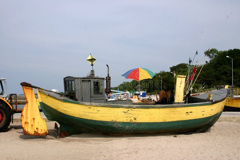 Fishboat 1 royalty free stock images