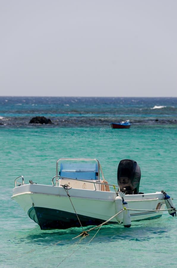 Fishboat w lagunie obraz royalty free