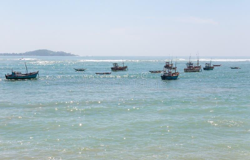 Fishboats na oceanie indyjskim zdjęcia stock
