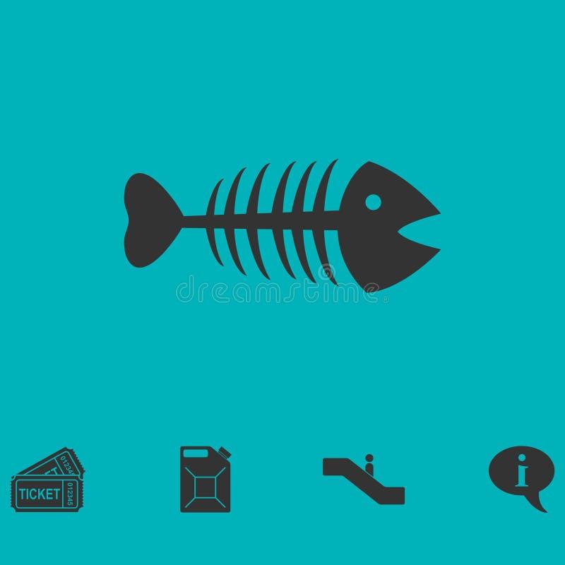 Fishbone vlak pictogram stock illustratie
