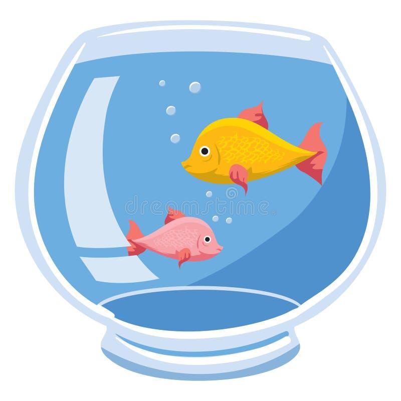 fishbowl ilustración del vector