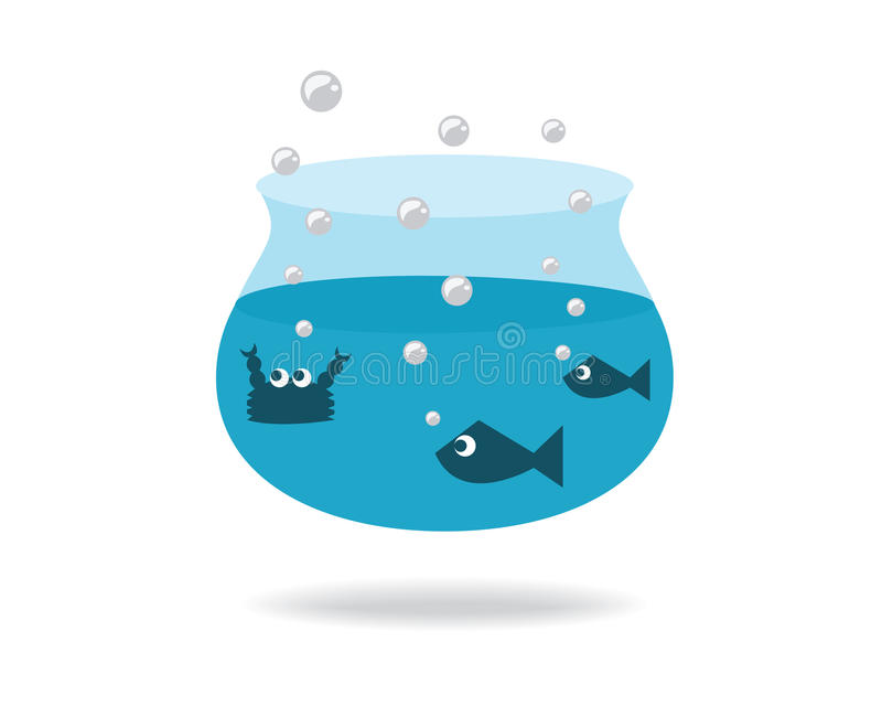 fishbowl stock de ilustración