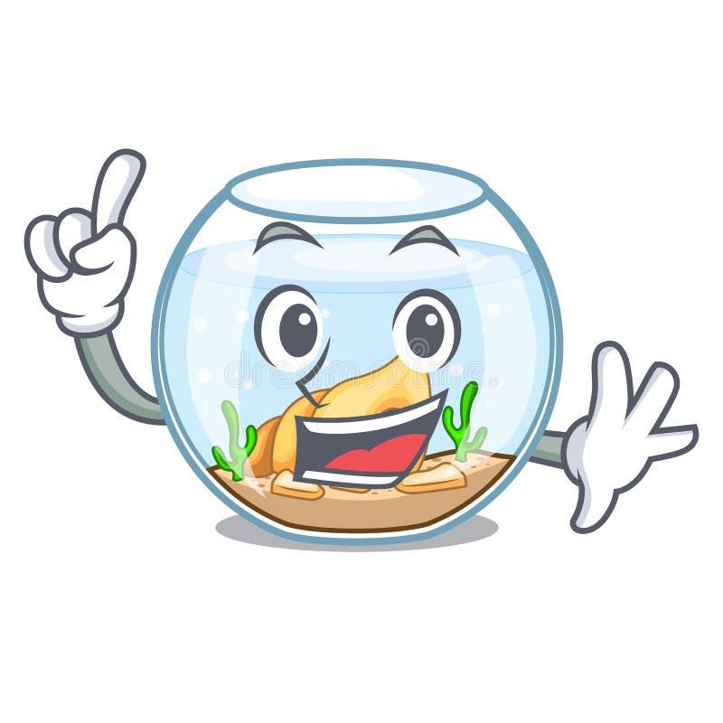 Fishbowl del finger en un divertido en historieta libre illustration