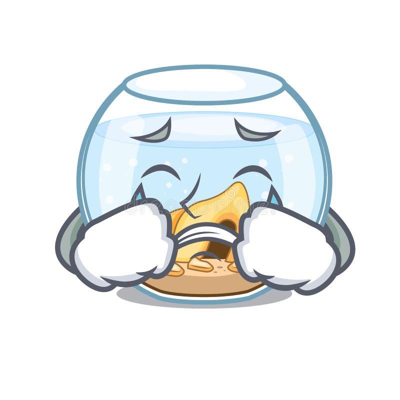 Fishbowl gritador que salta fuera de en carácter stock de ilustración