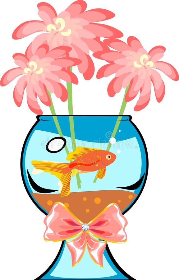Download Fishbowl with platies fish stock vector. Illustration of freshwater - 38140900