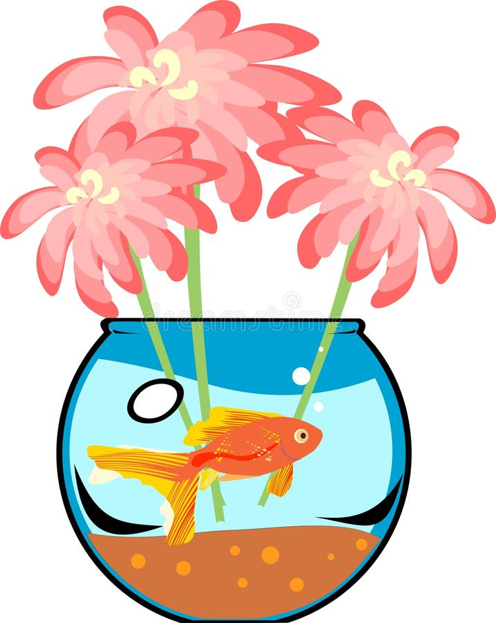 Download Fishbowl with platies fish stock vector. Illustration of celebrate - 38140937