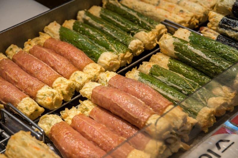 Fishcake еды улицы Кореи стоковые изображения