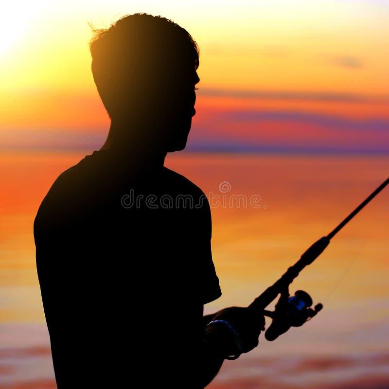 Fisher人剪影 图库摄影