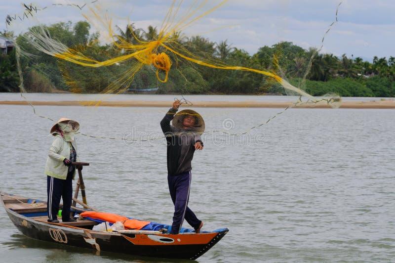 fisher отливки его сеть стоковые изображения rf