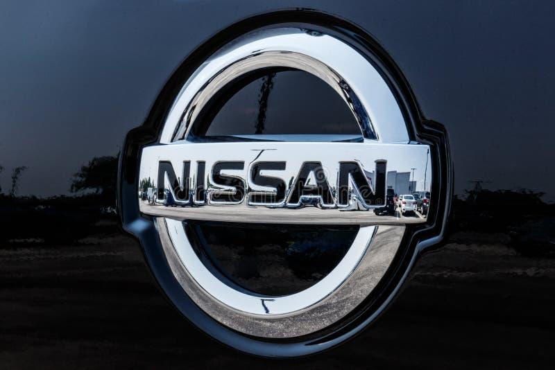 Fisher -大约2018年8月:日产汽车和SUV经销权的商标和标志 日产是雷诺日产联盟VI的一部分 库存图片