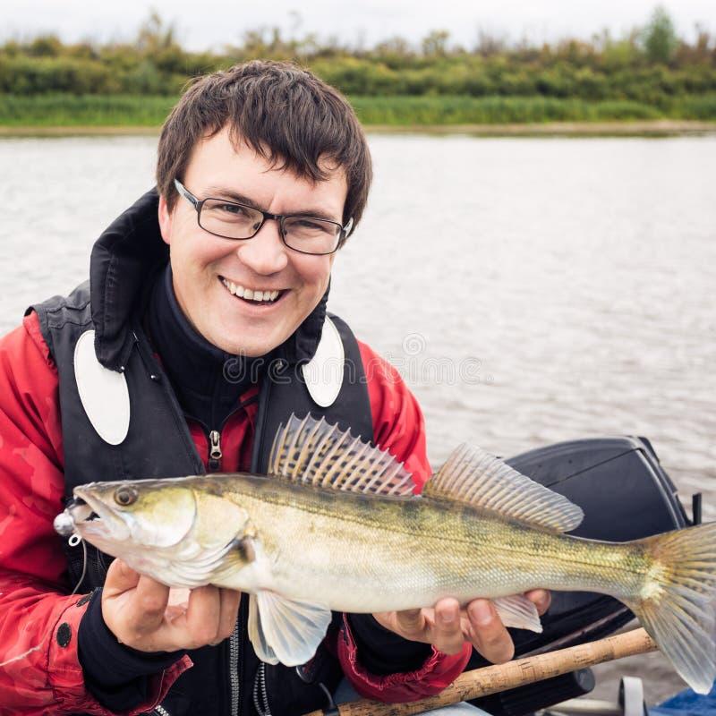 Fisher feliz fotos de stock