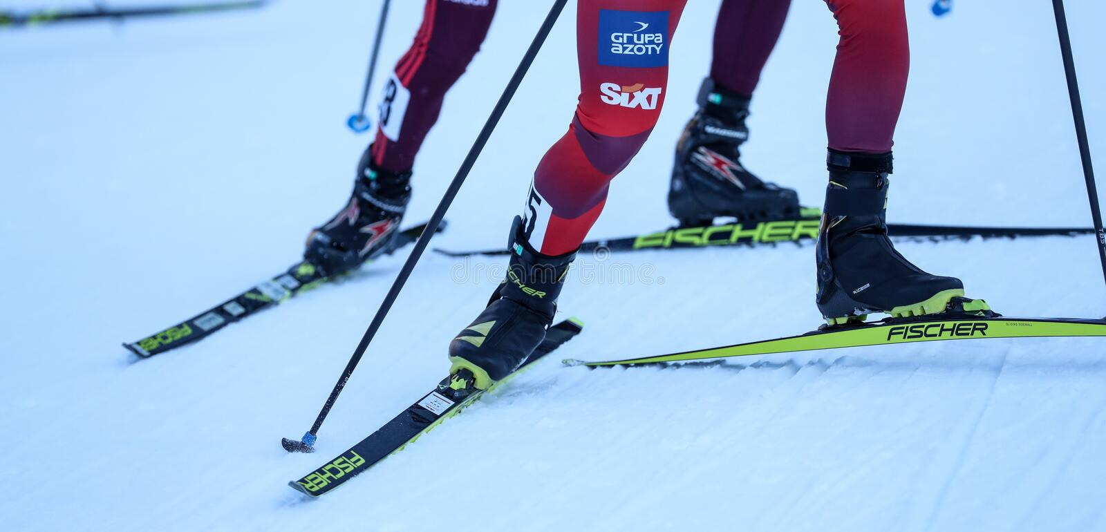 Nordic Ski FIS World Cup - Nordic Combined royalty free stock photography