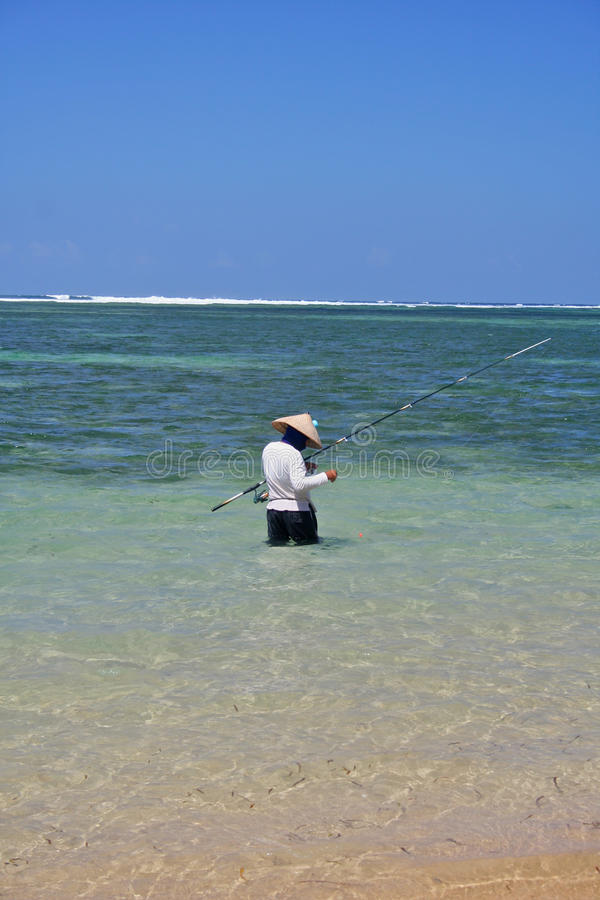 Fisher indonesio imagenes de archivo