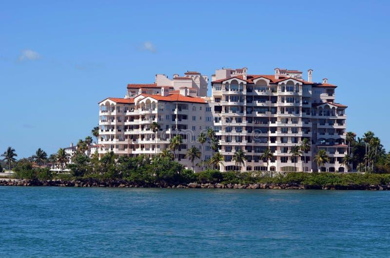 Fisher Island Luxury Condominiums stock photography