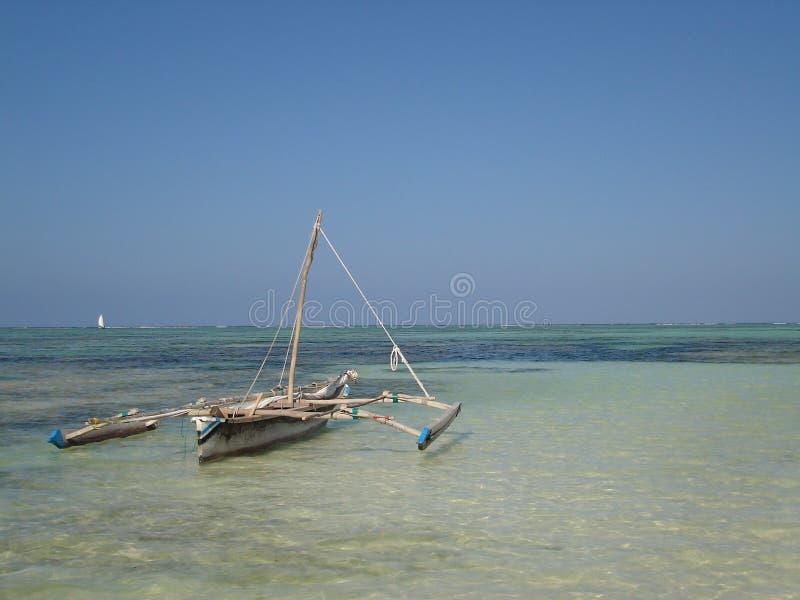 fisher jest łódź obraz royalty free