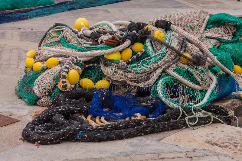 Fisher Net after work stock images