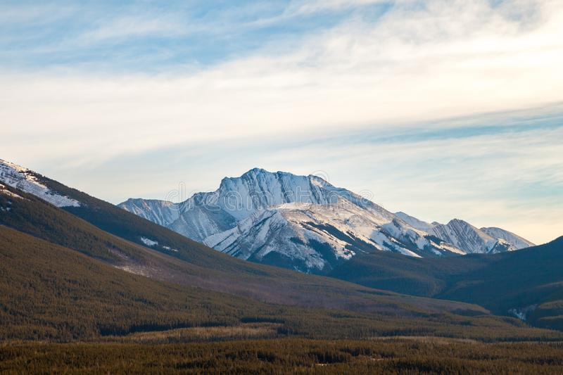 Fisher Osiąga szczyt, góra w Kananaskis w Kanadyjskich Skalistych górach, Alberta obrazy royalty free