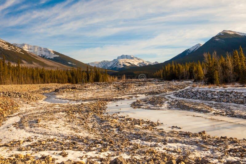 Fisher Osiąga szczyt, góra w Kananaskis w Kanadyjskich Skalistych górach, Alberta obrazy stock