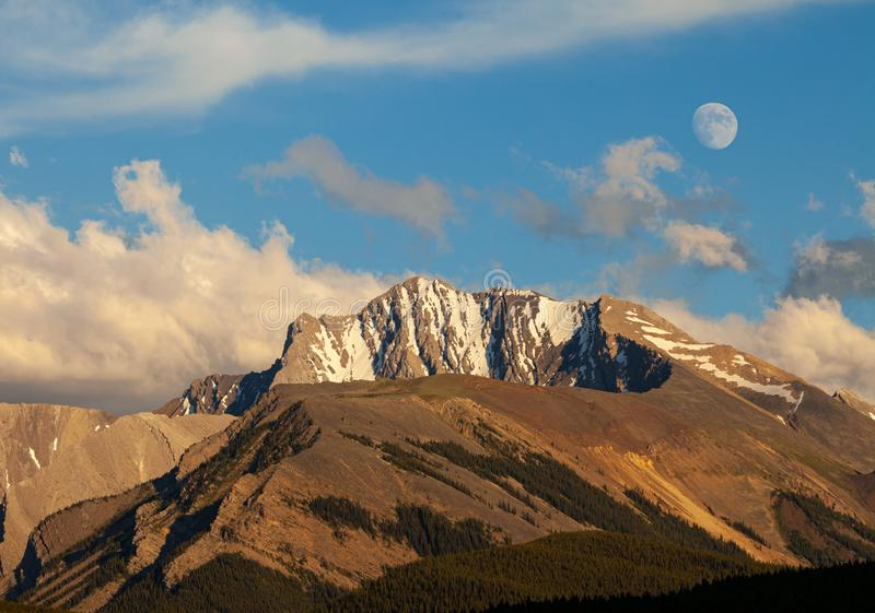 Fisher Peak, a mountain in Kananaskis in the Canadian Rocky Mountains, Alberta. Canada stock photos