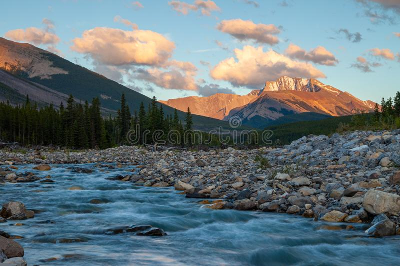 Fisher Peak, a mountain in Kananaskis in the Canadian Rocky Mountains, Alberta. Canada royalty free stock photography