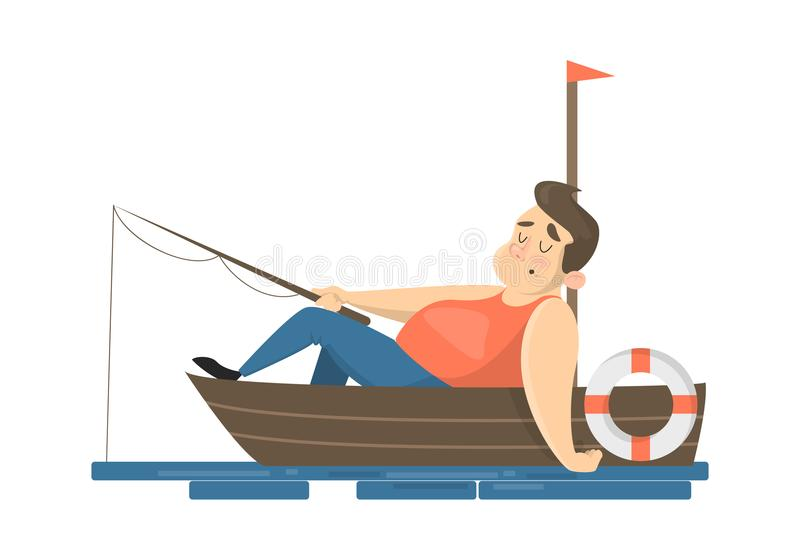 Fisher people set. royalty free illustration