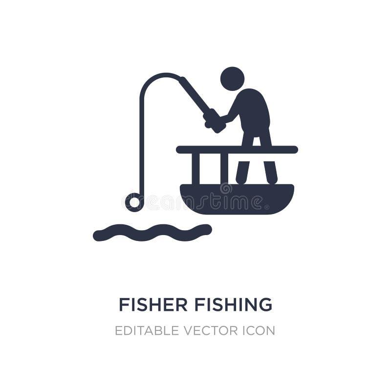 fisher som fiskar symbolen på vit bakgrund Enkel beståndsdelillustration från sportbegrepp royaltyfri illustrationer