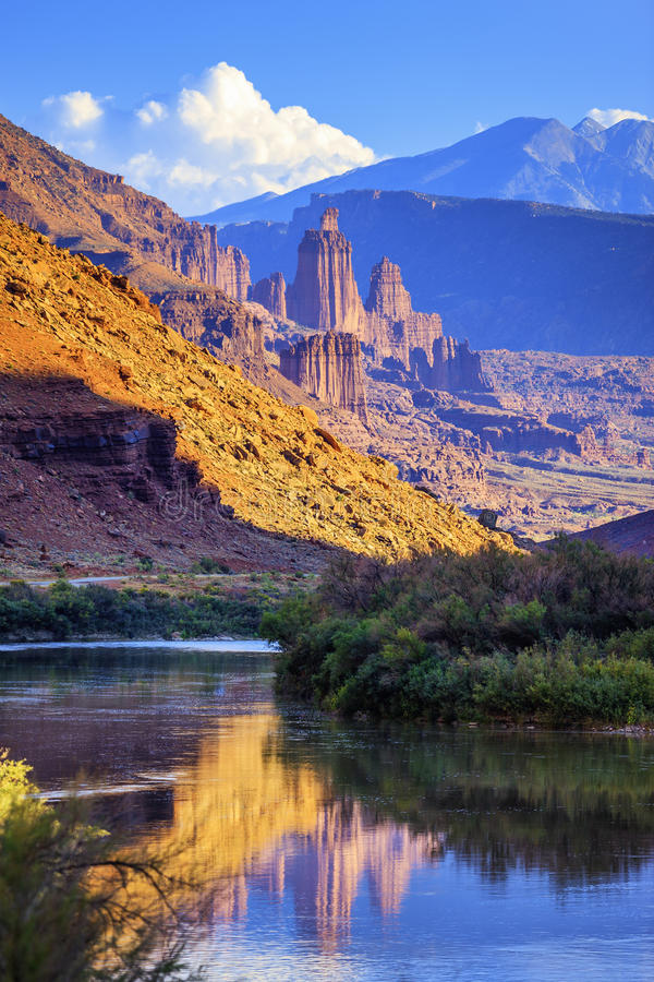 The Fisher Towers royalty free stock photography
