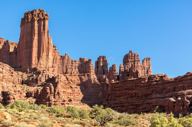 Fisher Towers royalty-vrije stock afbeelding